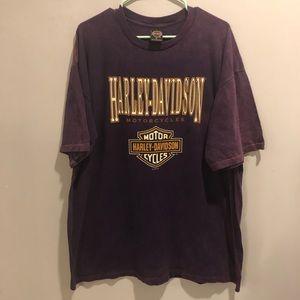 Harley Davidson graphic t shirt purple VTG 96' NC